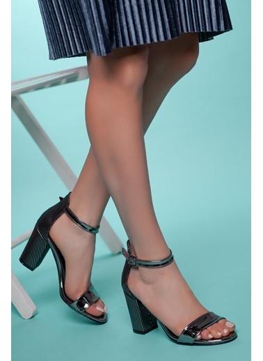 Muggo Topuklu Ayakkabı Gümüş